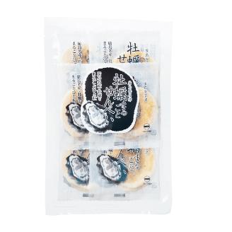 牡蠣まるごとせんべい12枚入り袋のイメージ